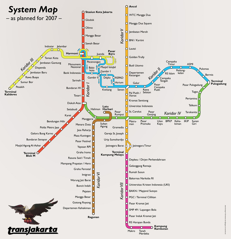 Info Jalur Busway Koridor 1 – 10